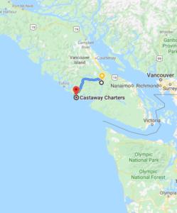 Castaway Fishing Charters Map